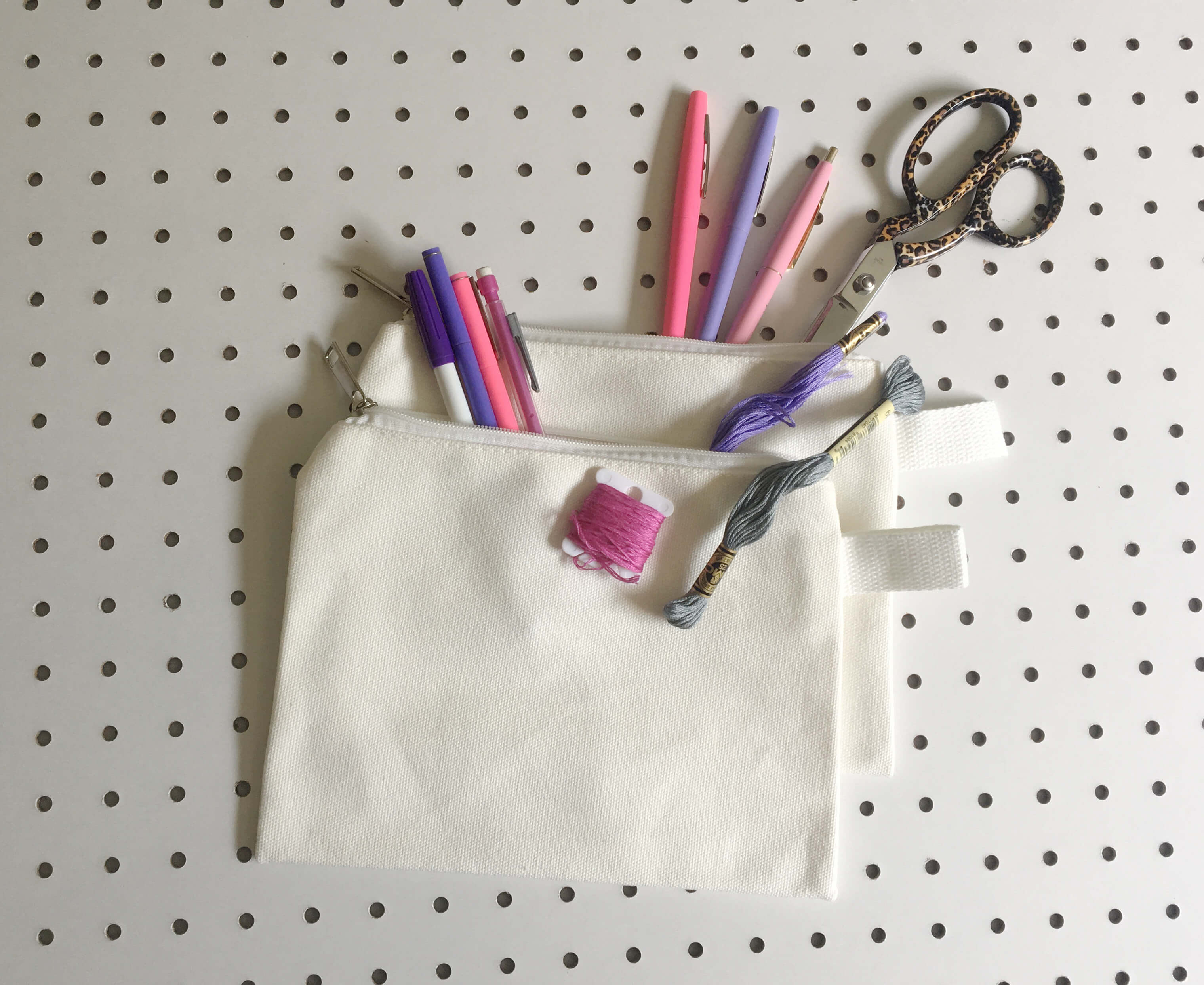 blank pouches