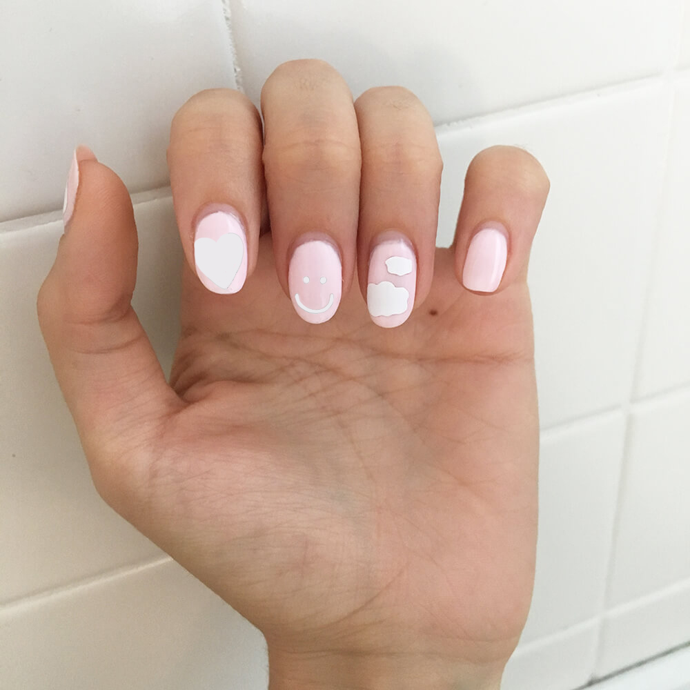 cloud nail decal
