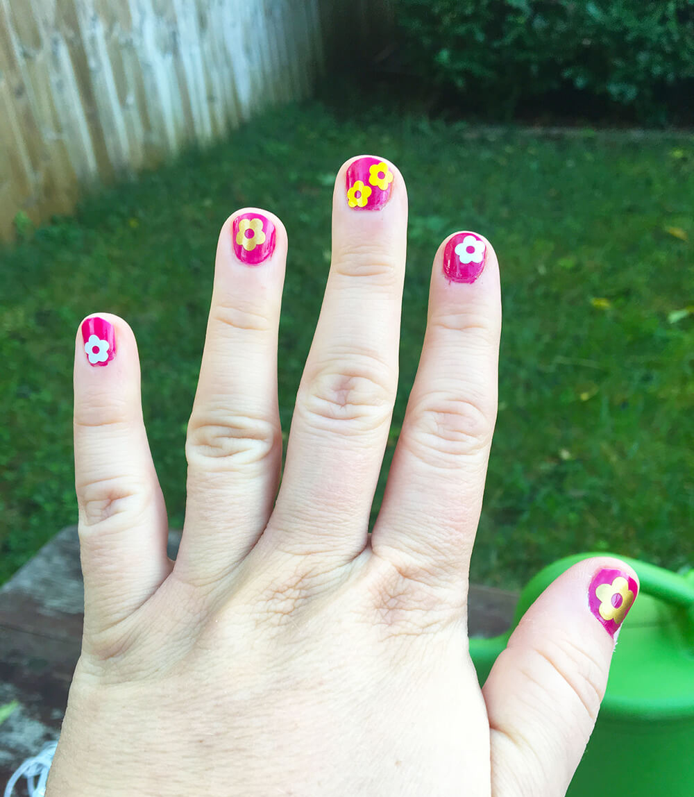 flower diy nail sticker
