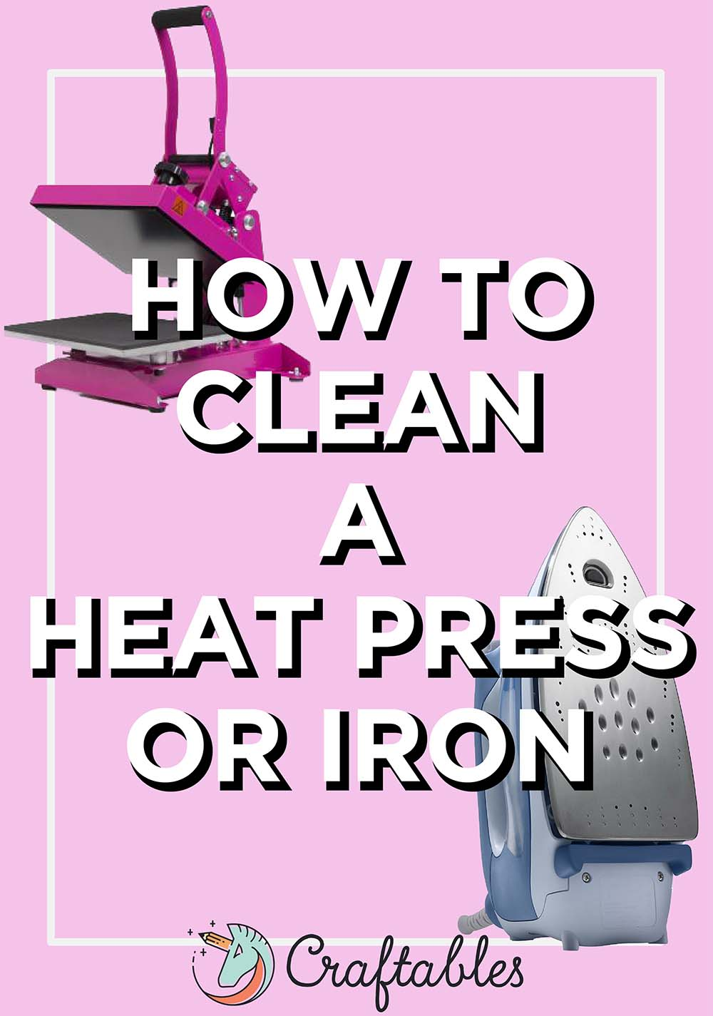 how to clean heat press